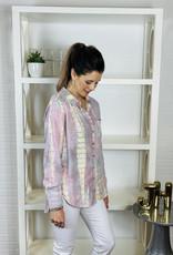 KLD SIGNATURE Luna Button Down Tie Dye Shirt