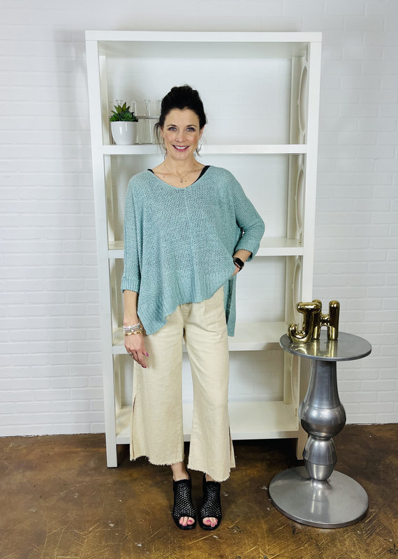 BY TOGETHER Val Linen Wide Leg Pants
