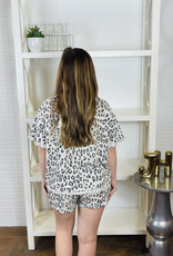 BY TOGETHER Calla Leopard Short Set