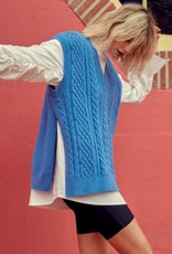 Dessin Studio Skye Cable Knit Sweater Vest