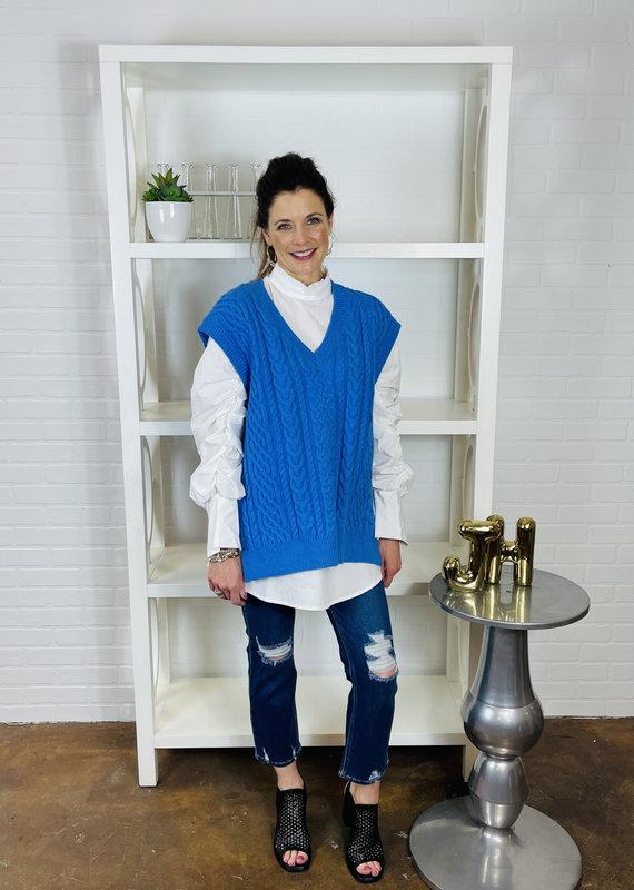 Dessin Studio Skye Cable Knit Sweater Vest