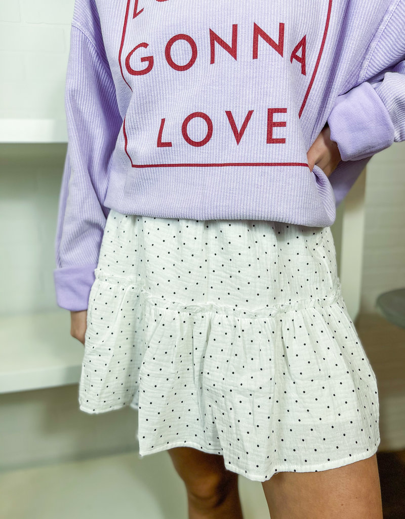 LELIS Dotted Up Tiered Mini Skirt