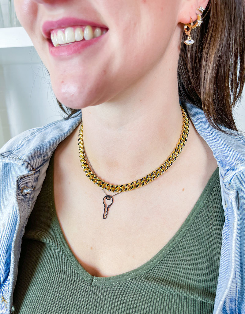 ANUJA TOLIA Key to Success Necklace