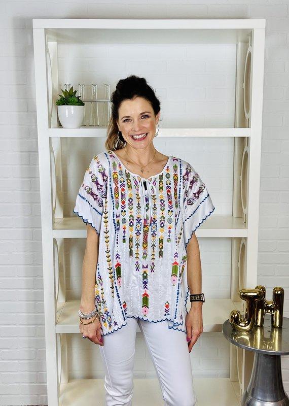 SHARON YOUNG Celia  Embroidered Tunic