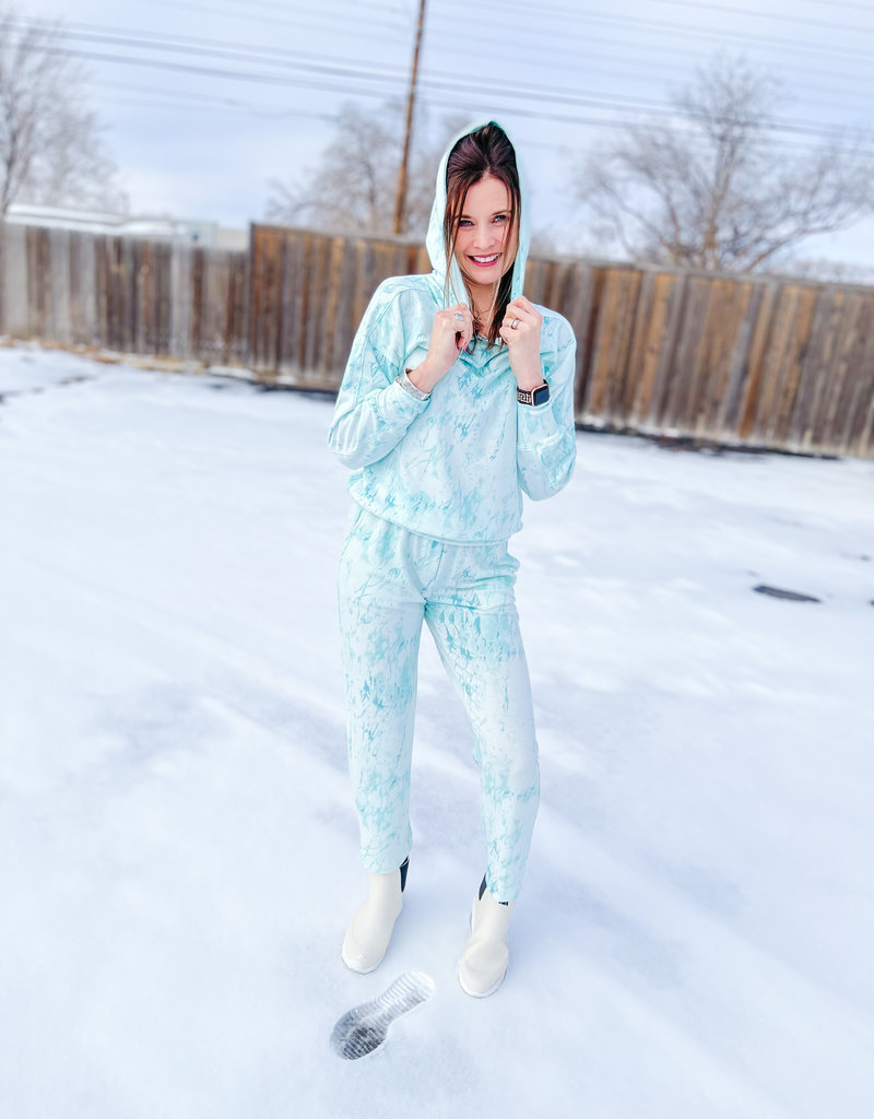 NALLY & MILLIE Mint to be Tie Dye Joggers