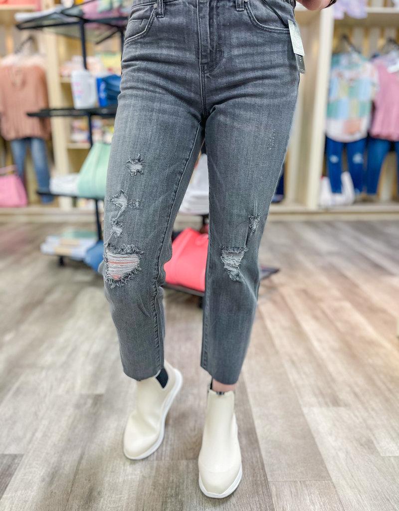 LIVERPOOL Ila Raw HemCrop Straight Jean