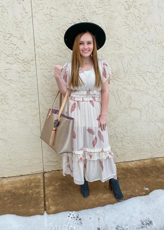 Grade & Gather Gabi Ruffled Midi Dress