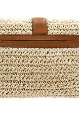 Mae Straw Flap Bag