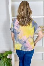KARLIE Annie Tie Dye V-Neck Top