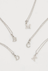 BRENDA GRANDS Petite Silver Initial Necklaces