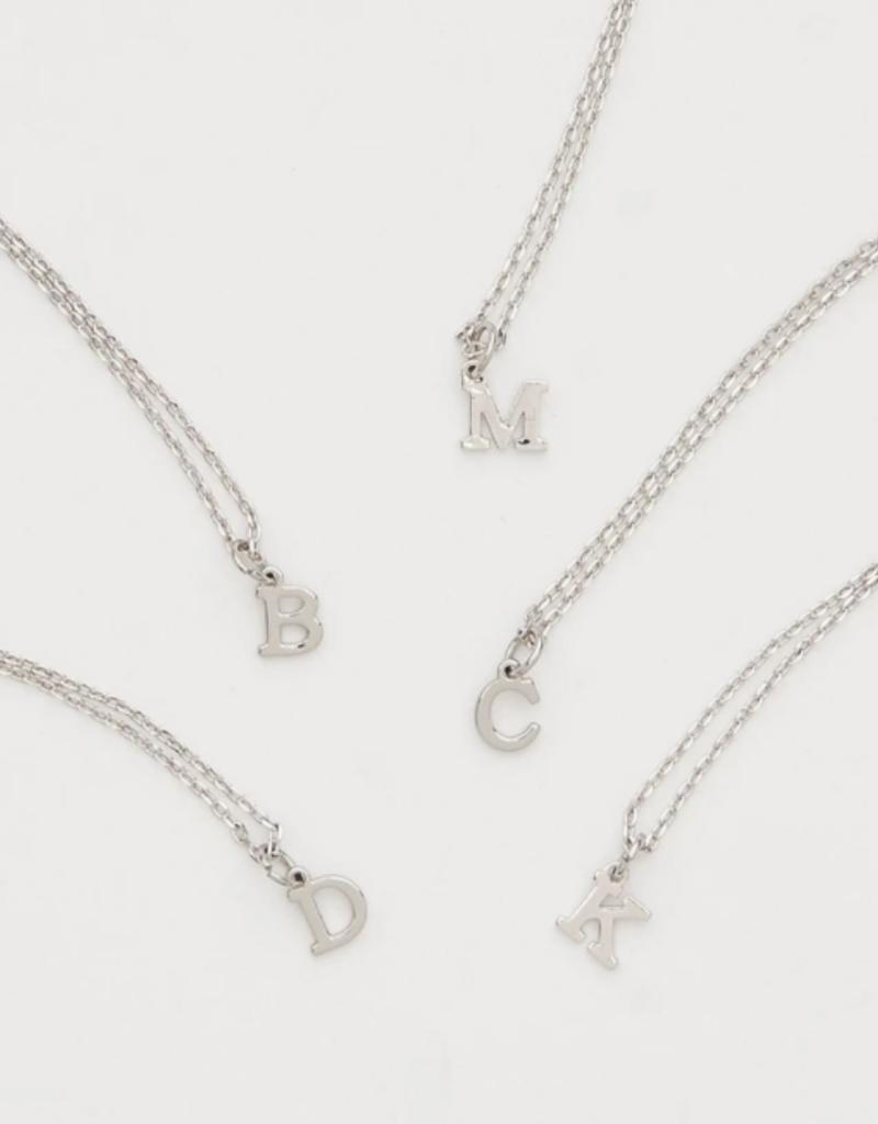 BRENDA GRANDS Petite Silver Initial Necklaces
