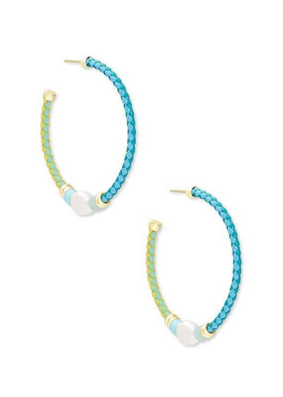 KENDRA SCOTT Raven Hoop Earrings