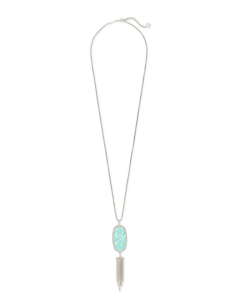 KENDRA SCOTT Rayne Silver Long Pendant Necklace