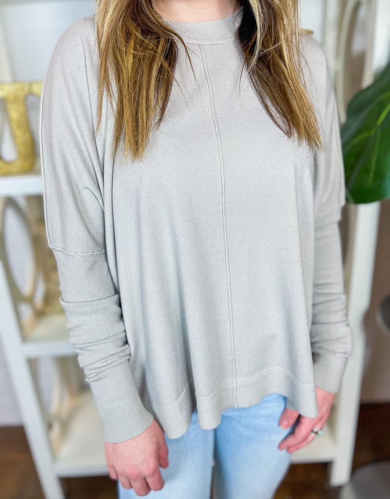 KARLIE Casey Crew Neck Sweater