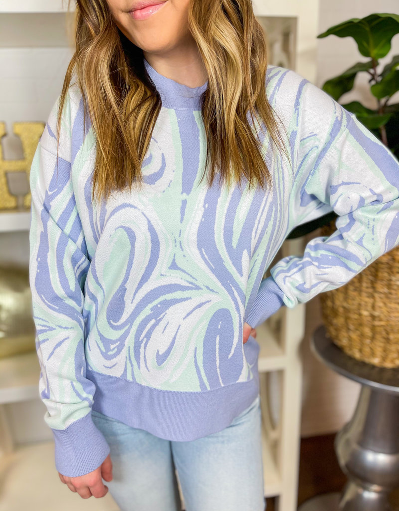 525 AMERICA Marbled It Pullover