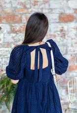 EN SAISON Lora Eyelet Mini Babydoll Dress
