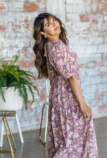 EN SAISON Sandi Floral Tiered Midi Dress
