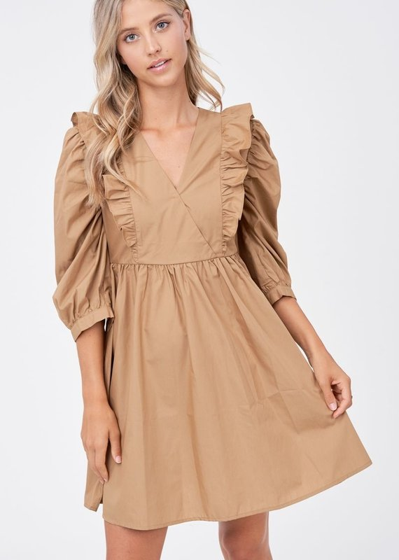 EN SAISON Lori Poplin Mini Dress