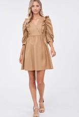 EN SAISON Lori Poplin Mini Dress