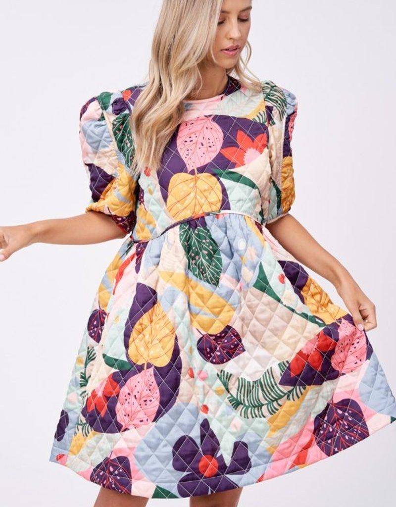 EN SAISON Quita Quilted Floral Dress