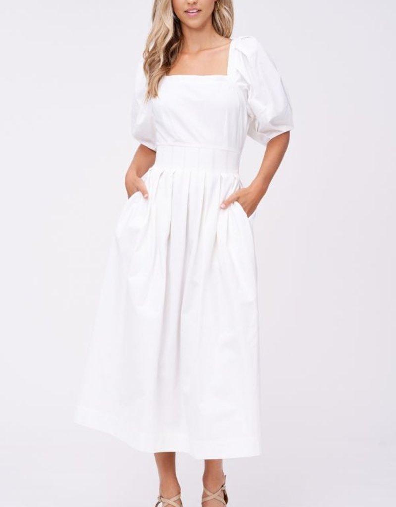 EN SAISON Steph Square Neck Midi Dress