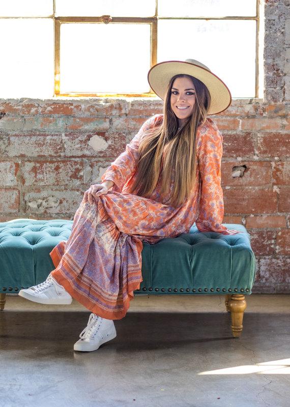 KARLIE Flora Boho Maxi Dress