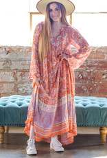 KARLIE Flora Boho Maxi Dress