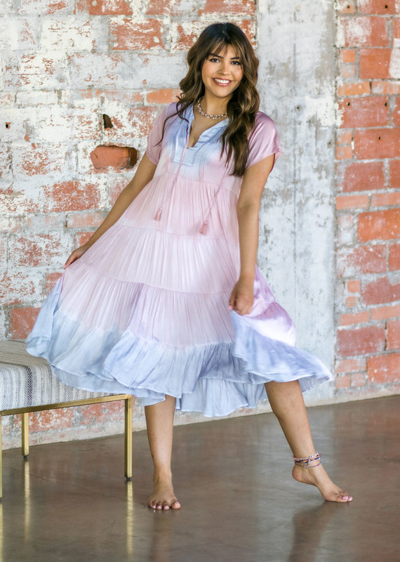 KARLIE Cotton Candy Midi Dress