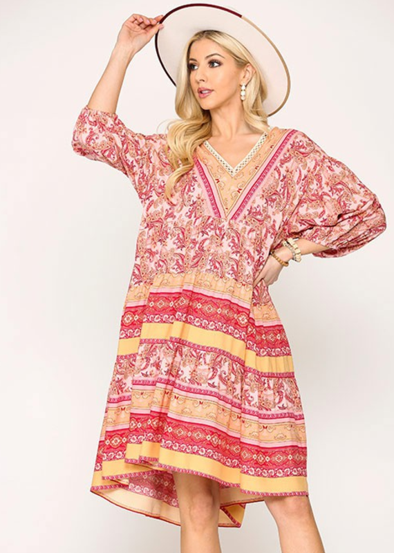 GIGIO Vero Paisley Dress