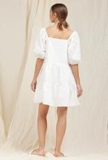 MOODIE Pure White Poplin Dress