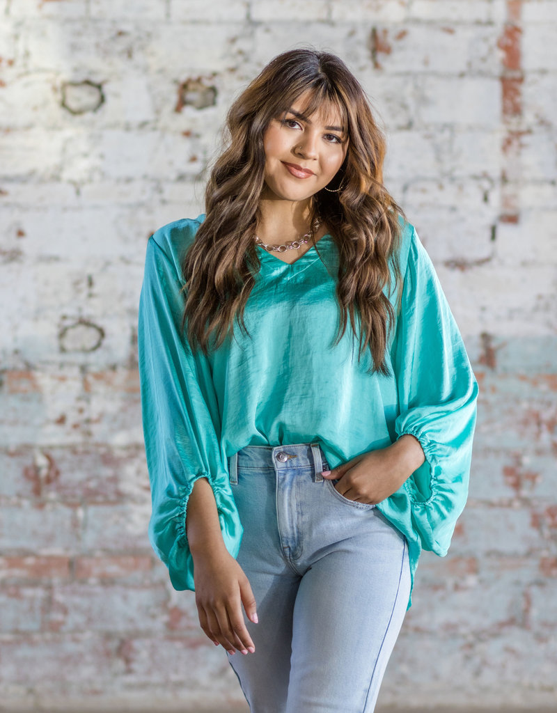 IVY JANE Balloon Sleeve Top