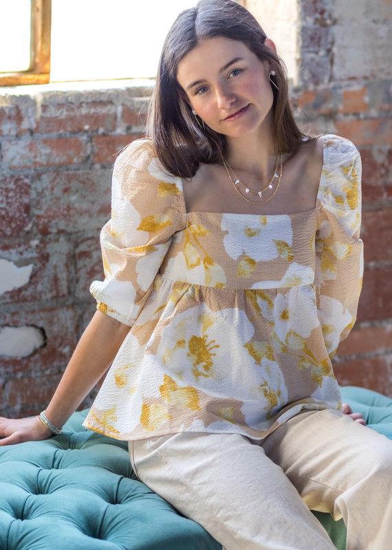EN SAISON Myra Floral Print Blouse