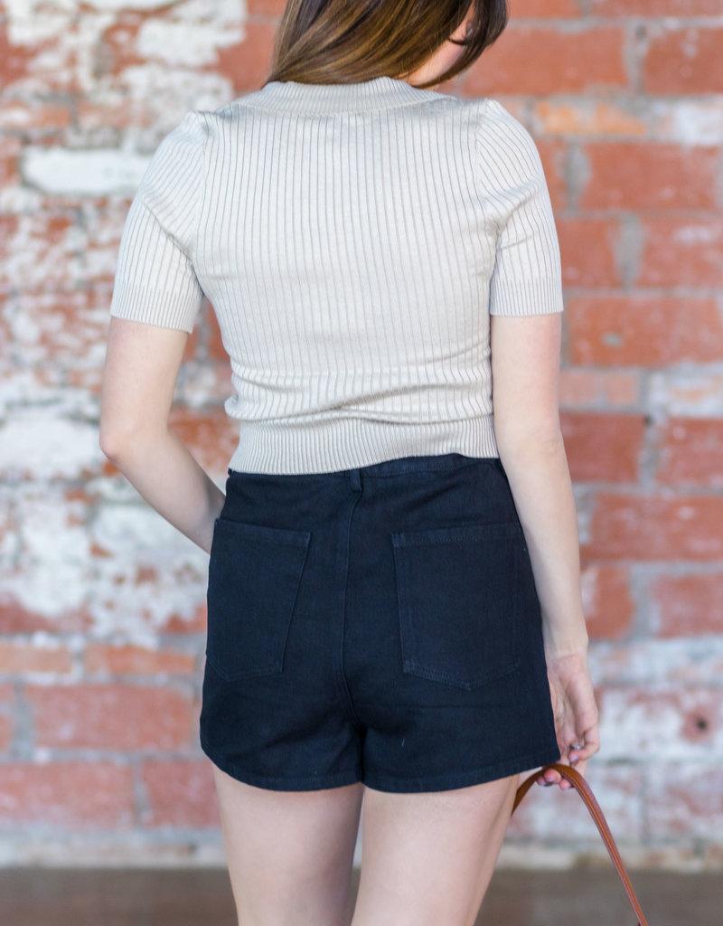 EMORY PARK Maren Paper Bag Waist Shorts