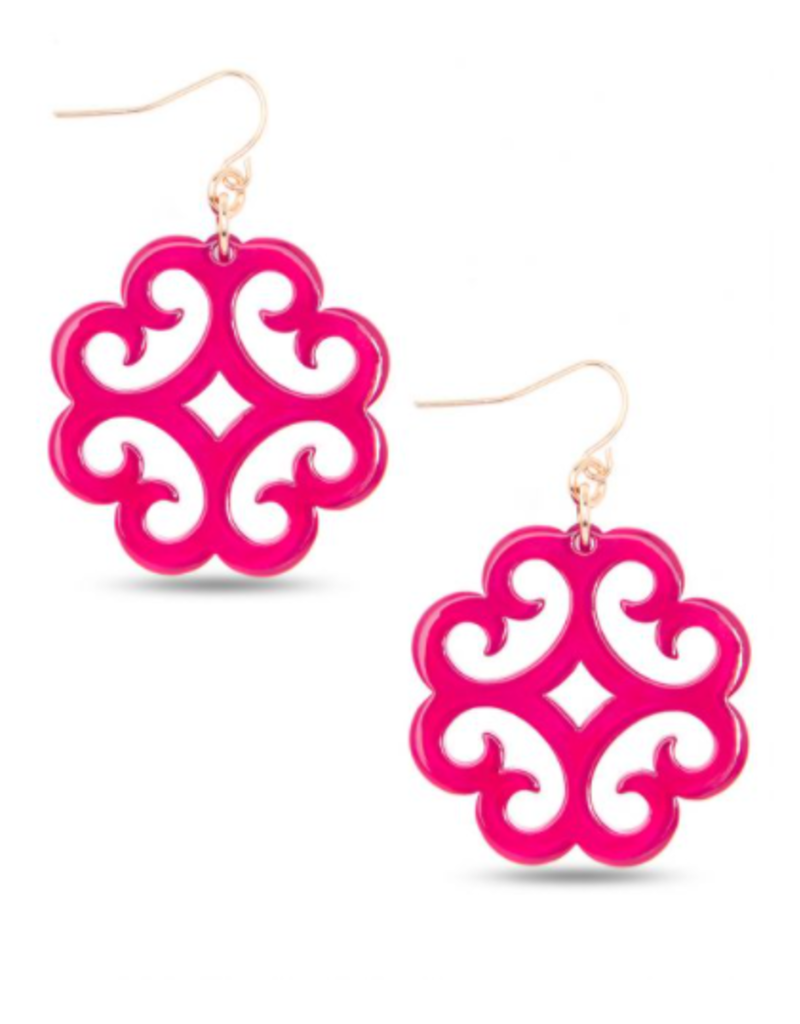 ZENZII Circular Wave Resin Earrings