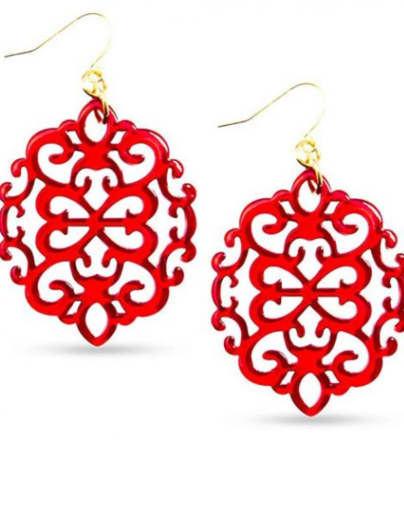 ZENZII Victorian Resin Drop Earrings