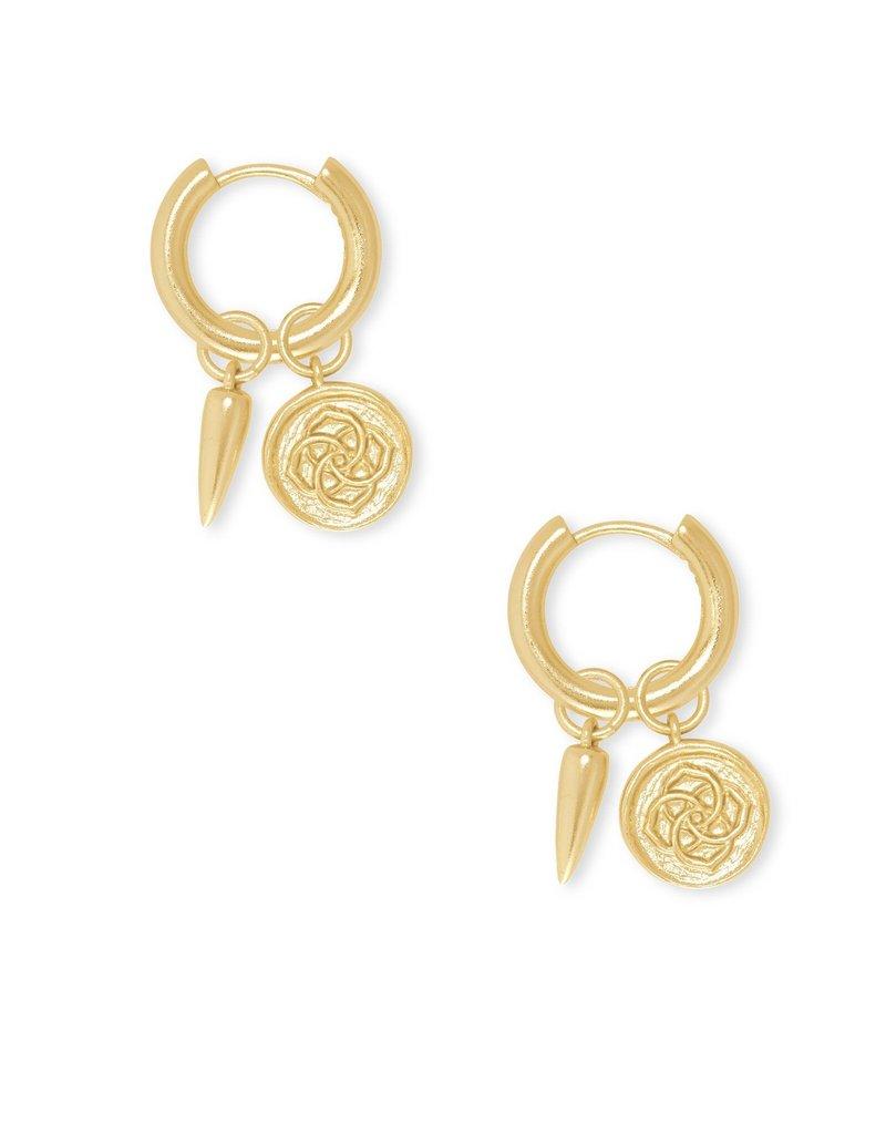 KENDRA SCOTT Dira Coin Huggie Earrings