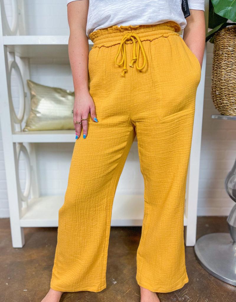 PROMESA Sunflower Gauze Pants