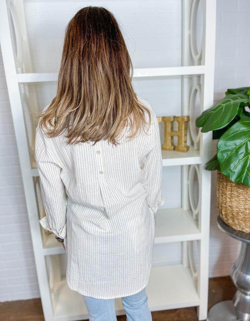 ALLIE ROSE Breezy Linen Boyfriend Shirt
