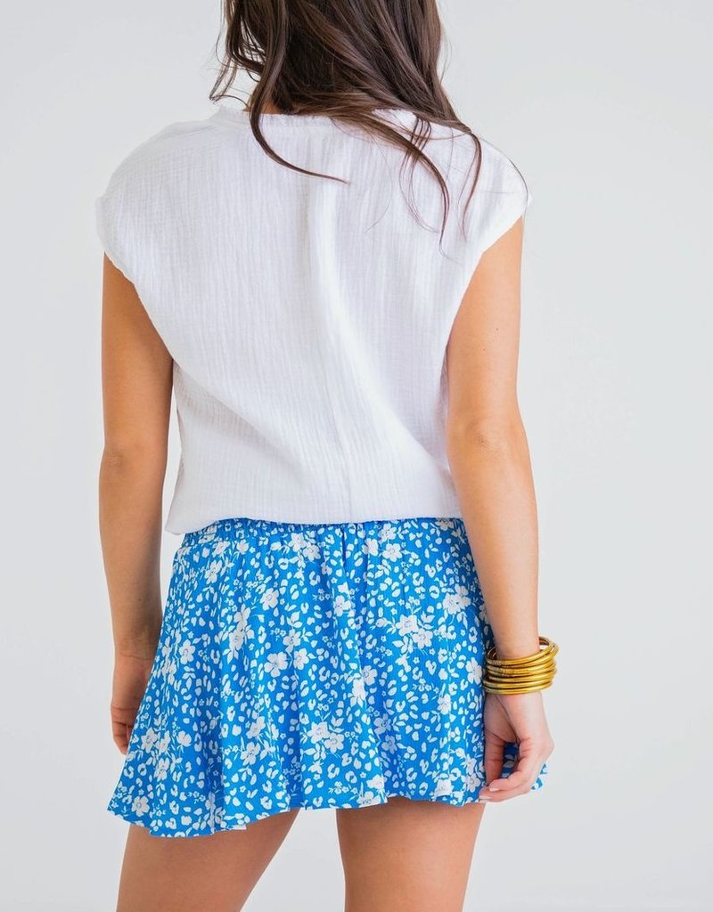 KARLIE Floral Boho Smoked Skort