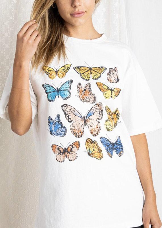 BAE VELY Fluttering Butterflies Tee