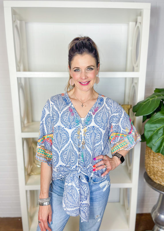 IVY JANE Bali Embroidered Top