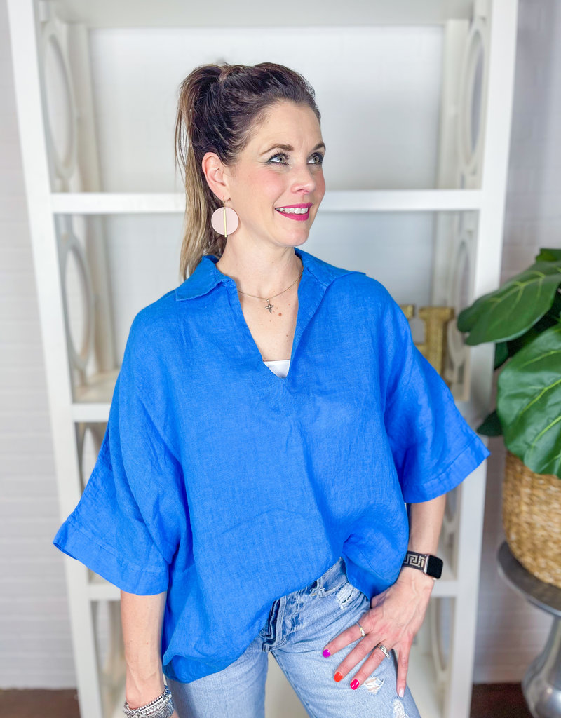SOFIA Lidia Linen Top