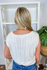 LE LIS Analiese Cable Knit Vest