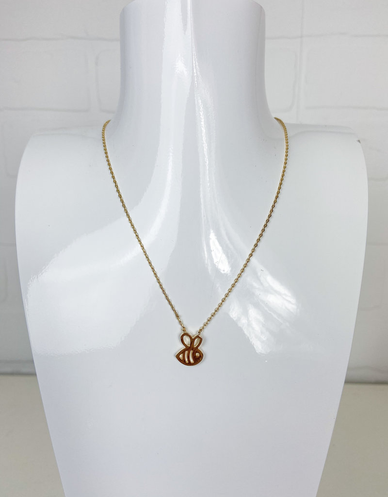 ANA ACCESSORIES Bumble Bee Dainty Necklace
