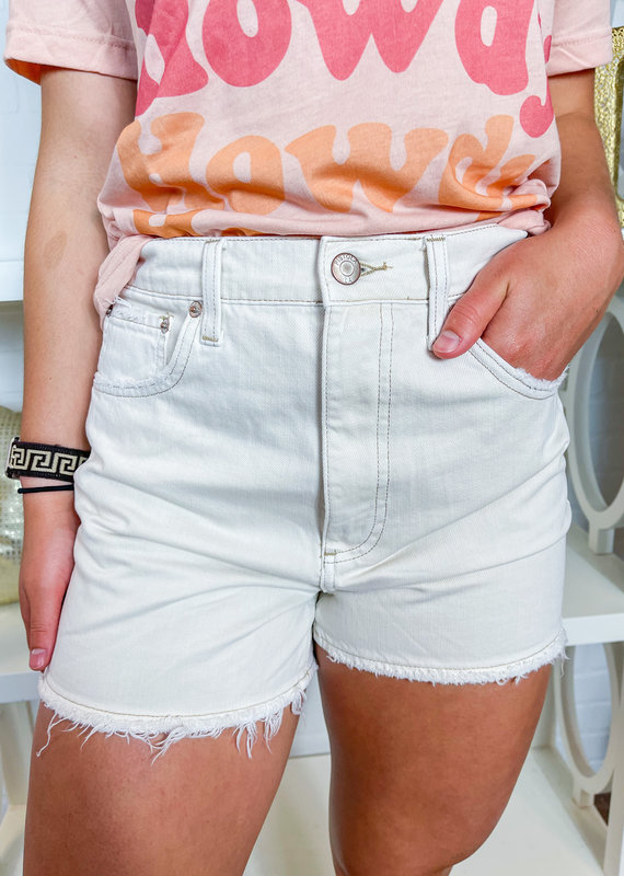 PISTOLA Maeve Super Hi Rise Cut-Off Shorts