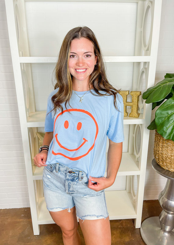 SWEET CLAIRE Smiley Face Tunic Tee
