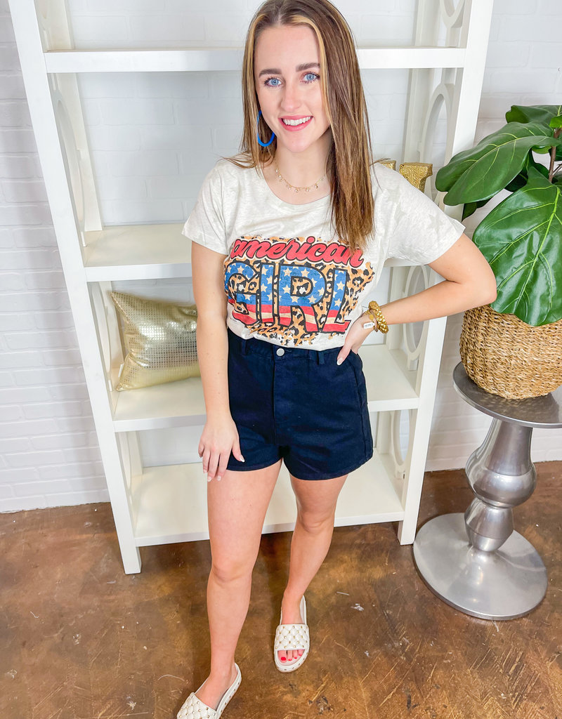 BRANDED COTTON American Girl Tee