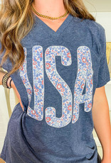 SMALL TOWN SOCIETY FRA Floral Tee