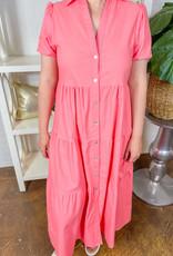 SUNDAYUP Pinking of You Button Down Dress