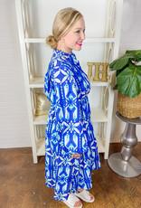 SUNDAY UP Prism & Blues Midi Dress
